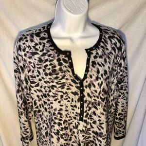 Cathy Daniels Size XL Funky Fun print sweater